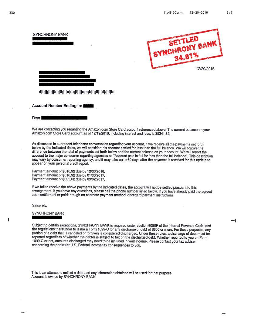 Settlement Letters – Royal Legal Group